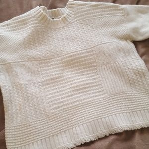 Madewell cream knit sweater